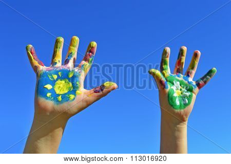 Painted Kid Hands