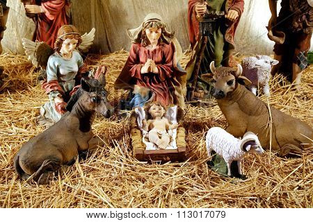 Figurines Of Even Birth Of Jesus