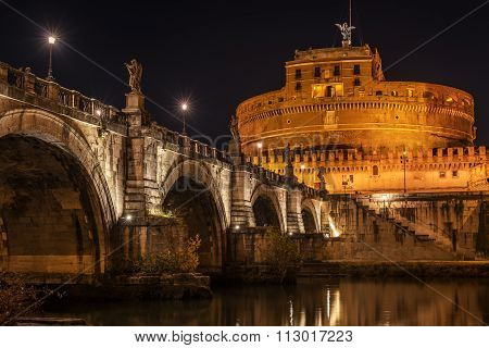 Rome, Italy: Hadrian's Mausoleum or Castle of  Holy Angel