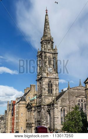 Tower of the The Tron Kirk-Edinburgh landmark