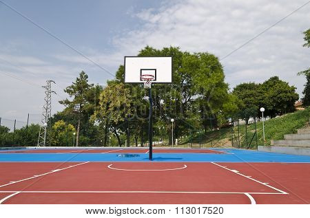 Basketball Court After The Rain