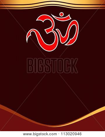 Aum (Om) The Holy Motif Raster Illustration
