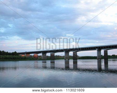 Missouri Bridge in the Evening