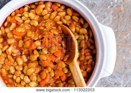 Delicious Vegetarian Lima Bean Casserole