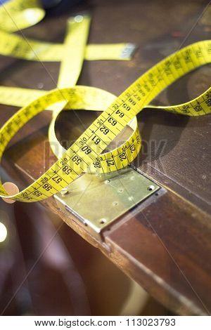 Tape Measure In Tailors Store Window