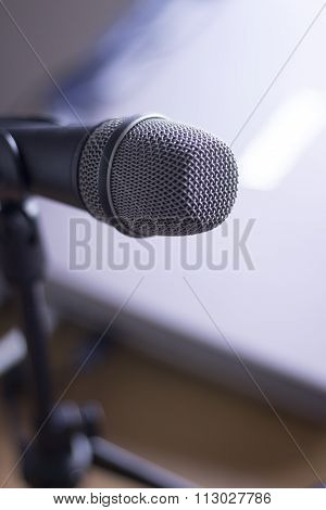 Home Studio Voice Microphone On Stand