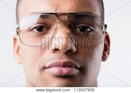 Black Man With Big Ugly Glasses