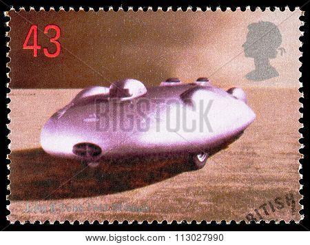 Britain Land Speed Record Postage Stamp