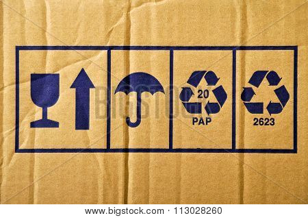 Cardboard and symbols