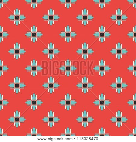 Geometric Seamless Pattern In Retro Style