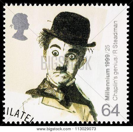Britain Charlie Chaplin Postage Stamp