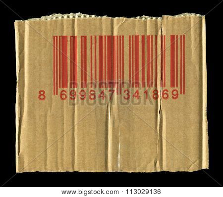 Torn cardboard and barcodes