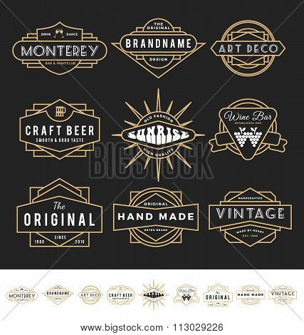 Set Of Retro Badge Logo For Vintage Product