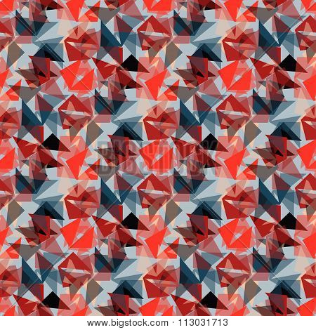 Red Polygons Seamless Pattern Wallpaper