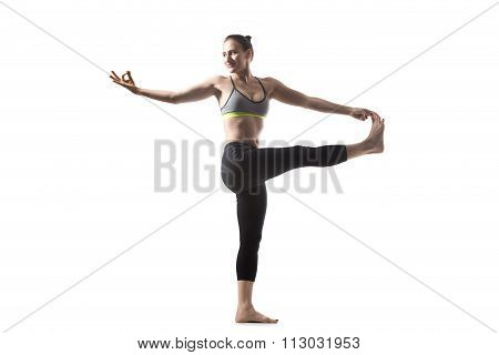Twisting Extended Hand To Big Toe Pose