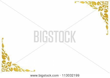 Old antique stucco design vintage style isolated white background, use clipping path