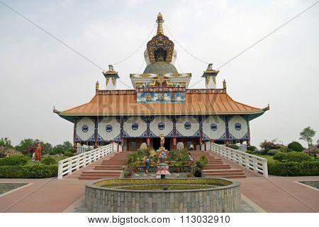 German temple in Lumbini Nepal (birth place of Buddha)