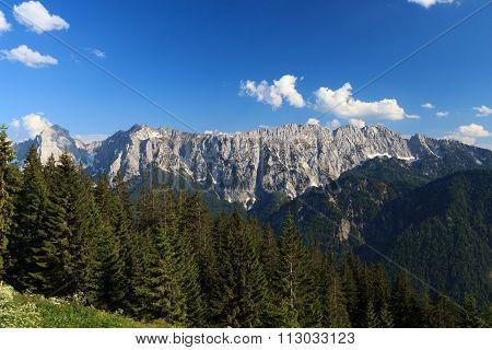 View towards the Wilder Kaiser mountains, Austria Alps
