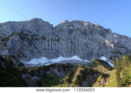 Mountain face of the Scheffauer, Wild Kaiser mountains