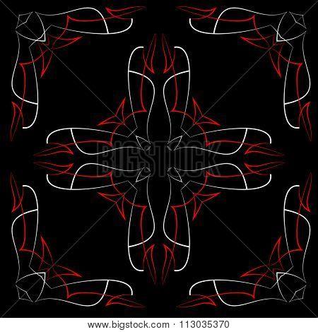 Pinstripe Christian Cross : Vinyl Ready Raster Illustration
