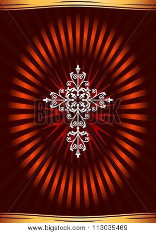 Christian Cross Design Raster Illustration