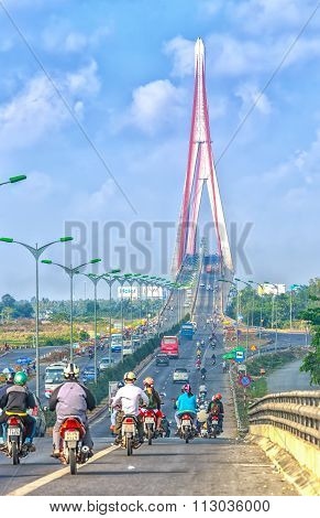 Beauty Can Tho cable stayed bridge