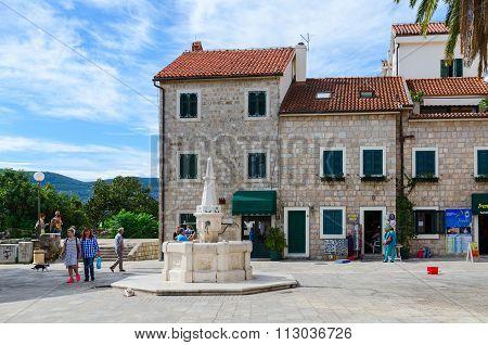 Drinking Fountain Karacha In Herceg Novi, Montenegro