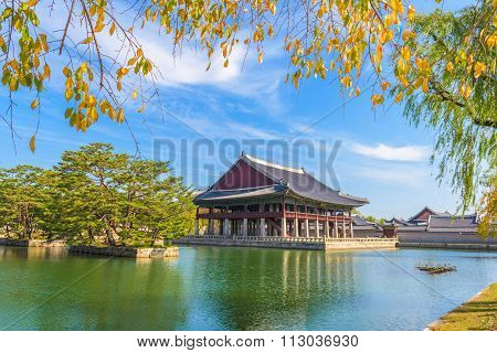 Autumn Of Gyeongbokgung Palace In Seoul ,korea.