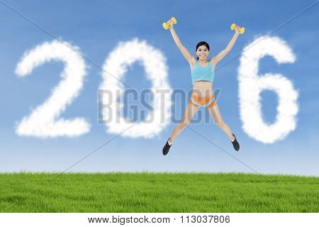 Fitness Woman Forming Number 2016