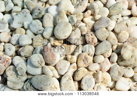 Color Pebble Stone As Background