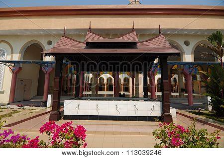 Ablution of the Putra Nilai Mosque in Nilai, Negeri Sembilan, Malaysia