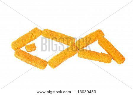 Fish Sticks On A White Background