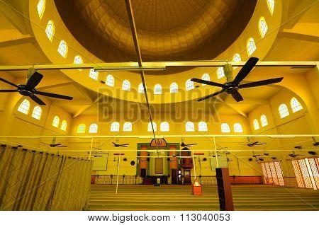The Putra Nilai Mosque in Nilai, Negeri Sembilan, Malaysia