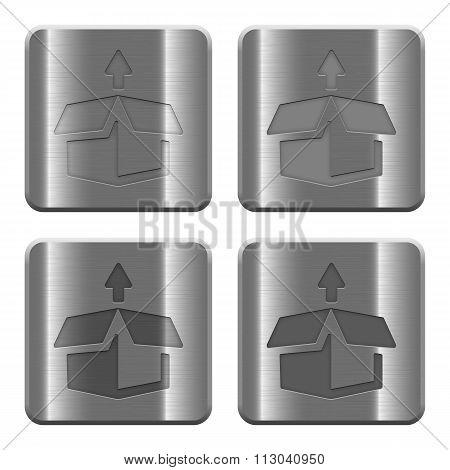 Metal Unpack Buttons