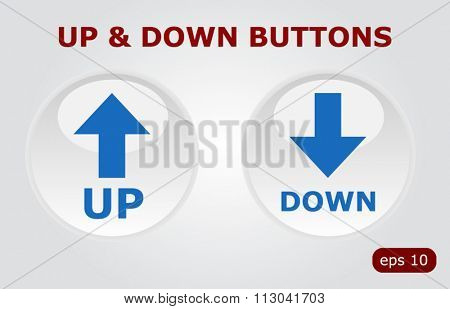 Up down vector buttons