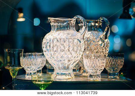 Souvenir glass crafts from Vladimir, Russia