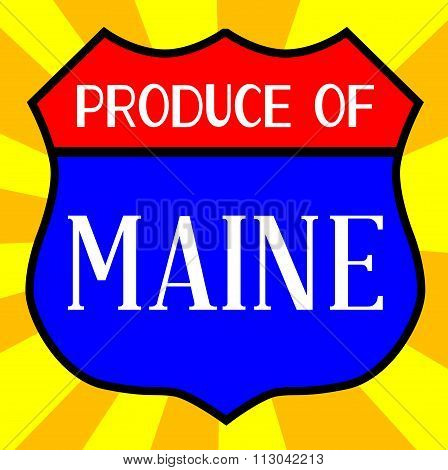 Produce Of Maine Shield