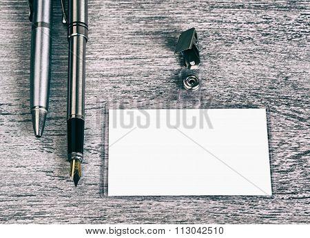 Business, Pen, Badge, Retro