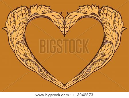 image of heart in art nouveau style
