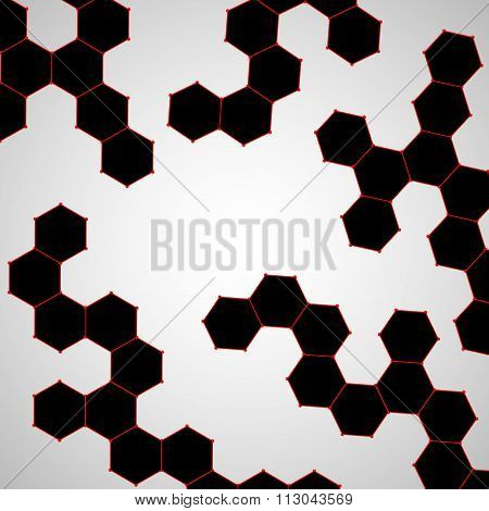 Molecule DNA. Abstract background
