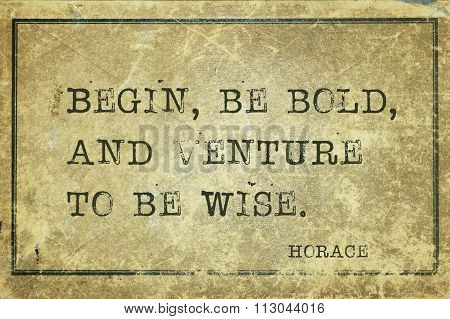Be Bold Horace