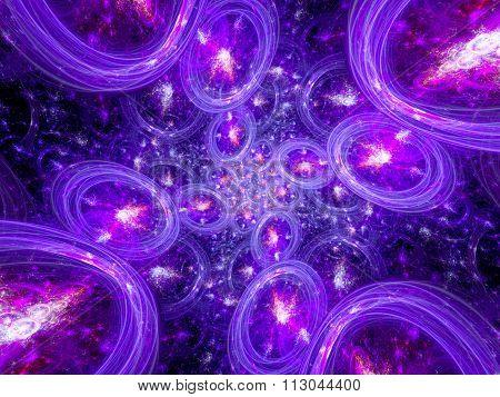 Multiple Glowing Bubble Universes