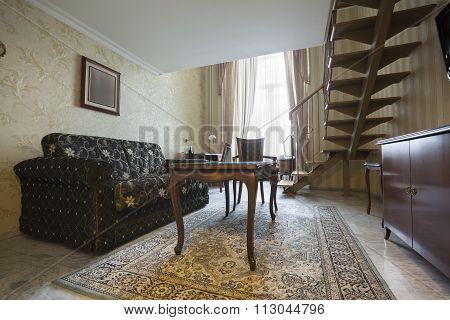 antique duplex apartment interior