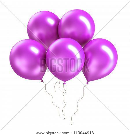 Bunch of bright colorful shiny balloon