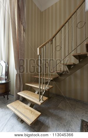 stairs in duplex apartment