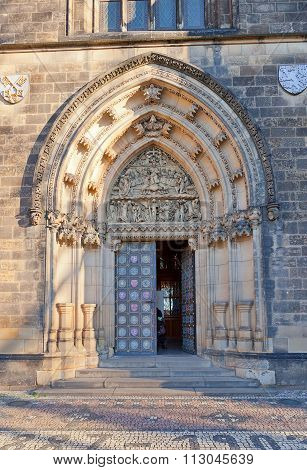 Portal Of Basilica Of St Peter And St Paul In Vysehrad