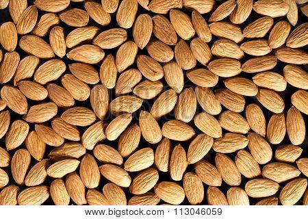 almonds full background