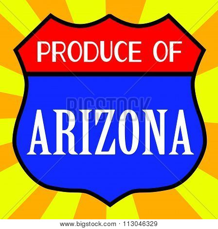 Produce Of Arizona Shield