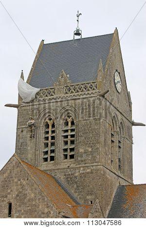Sainte-Mère-Église church, France