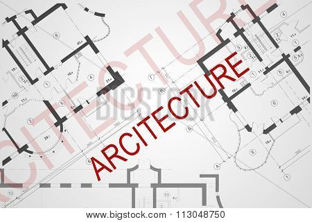 Background of the architectural plan
